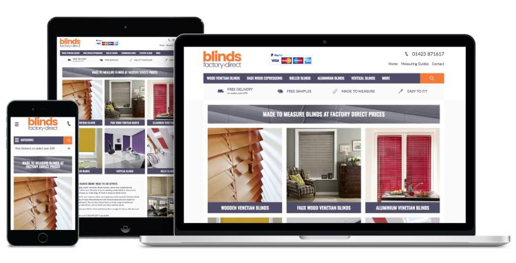 Ecommerce Website - Blinds Factory Direct