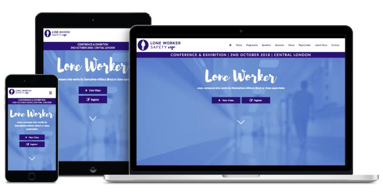 Website Design - Lone Worker Safety Expo